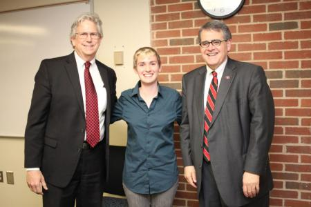 Laurel Hiatt with President Morehead and David S. Williams